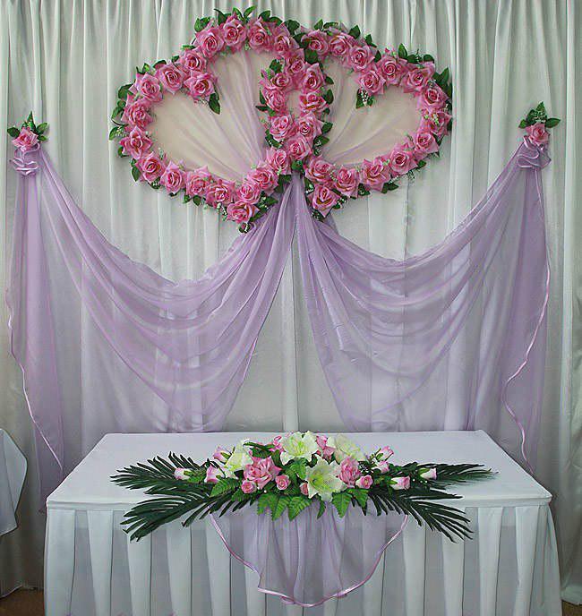 Оформление места жениха и невесты своими руками